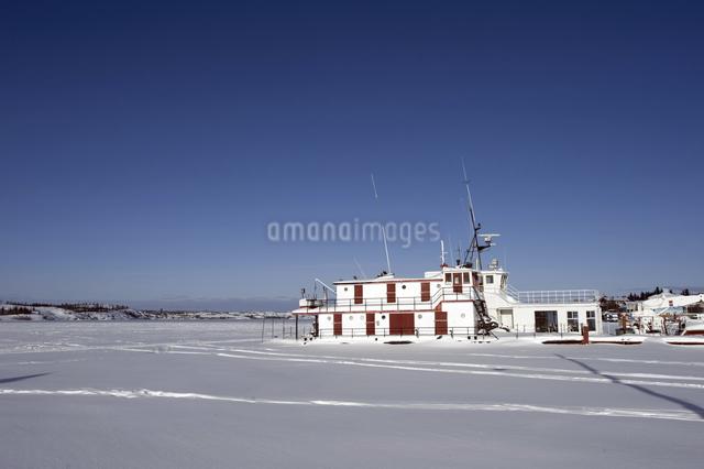 グレートスレイブ湖の結氷の写真素材 [FYI04185078]