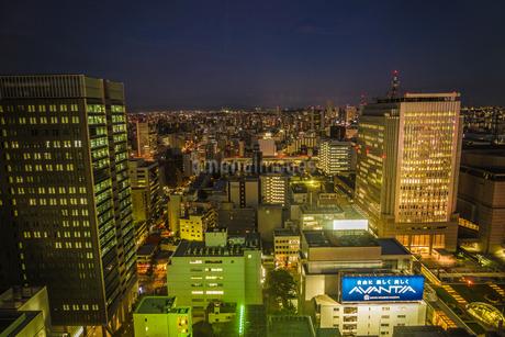 名古屋テレビ塔の展望台からの夕景の写真素材 [FYI04187546]