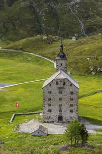 スイス、シンプロン峠の風景、アルテ・スピテルの写真素材 [FYI04187878]