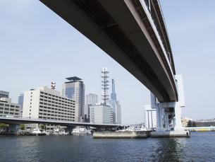神戸メリケンパークから見た神戸市街の写真素材 [FYI04191006]