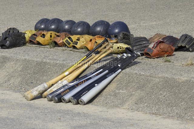 野球の道具の写真素材 [FYI04191837]