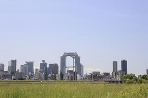 淀川河川敷からみる大阪の写真素材 [FYI04194726]