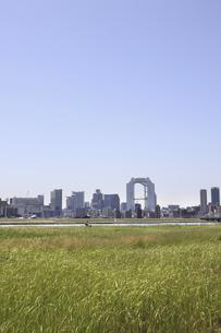 淀川河川敷からみる大阪の写真素材 [FYI04194727]