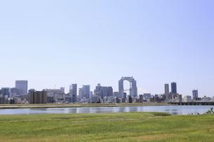 淀川河川敷からみる大阪の写真素材 [FYI04194732]