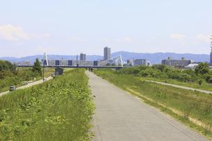 河川敷の道の写真素材 [FYI04194746]