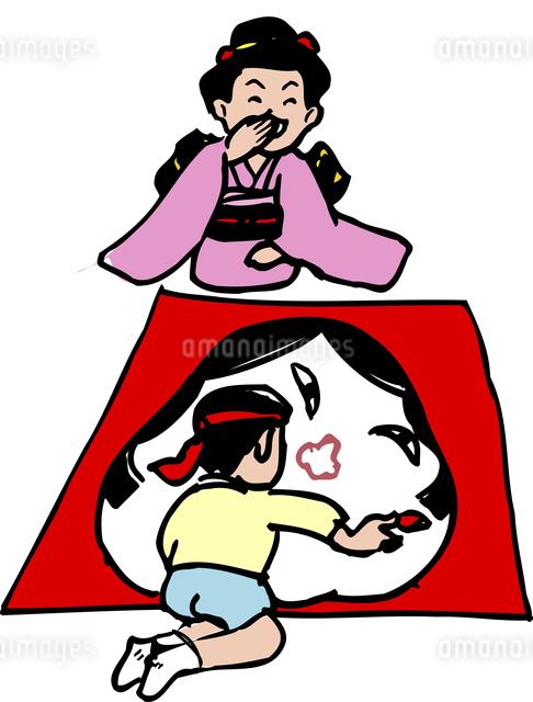福笑いのイラスト素材 [FYI04196295]