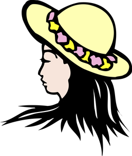 花輪の帽子のイラスト素材 [FYI04196449]