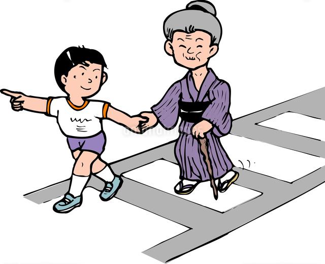 横断歩道誘導のイラスト素材 [FYI04196981]