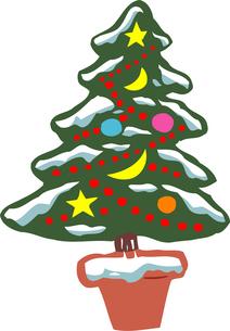 クリスマスツリーのイラスト素材 [FYI04197188]