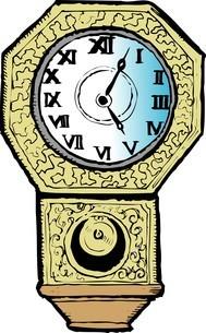 柱時計のイラスト素材 [FYI04197388]