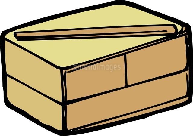 木の弁当箱のイラスト素材 [FYI04197625]