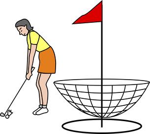 ターゲットゴルフのイラスト素材 [FYI04198682]