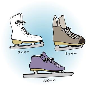 スケート靴の種類のイラスト素材 [FYI04199091]