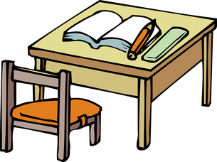 机と椅子のイラスト素材 [FYI04199107]