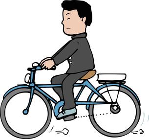 自転車通学のイラスト素材 [FYI04199145]
