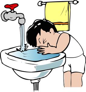 洗顔のイラスト素材 [FYI04199302]