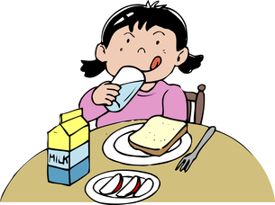 朝食のイラスト素材 [FYI04199311]