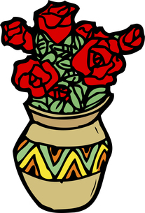 花瓶のイラスト素材 [FYI04199521]