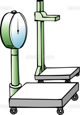 身長体重計のイラスト素材 [FYI04199681]