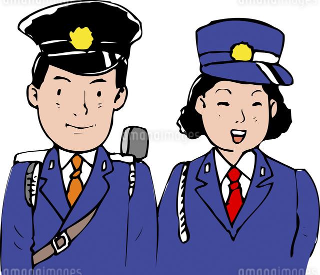 警察官のイラスト素材 [FYI04199901]