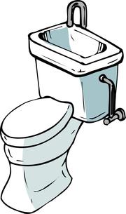 水洗トイレのイラスト素材 [FYI04200184]