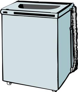 全自動洗濯機のイラスト素材 [FYI04200217]