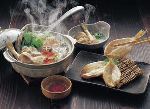 ふくちり鍋とふぐの一夜干しの写真素材 [FYI04200798]