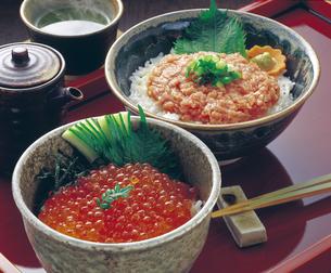ネギトロ丼といくら丼の写真素材 [FYI04200823]
