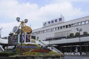 宇都宮駅前の花壇の写真素材 [FYI04202836]