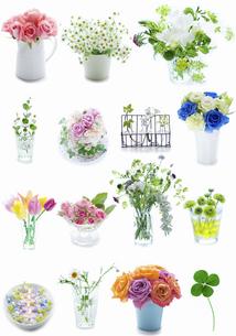 花のコラージュの写真素材 [FYI04204162]