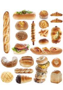 パンのコラージュの写真素材 [FYI04204196]