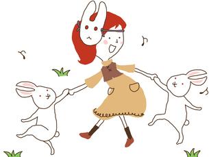 うさぎのダンスのイラスト素材 [FYI04205098]