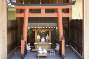 阿倍野神社のお稲荷さんの写真素材 [FYI04206324]