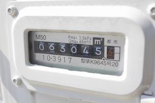 ガス消費メーターの写真素材 [FYI04207179]