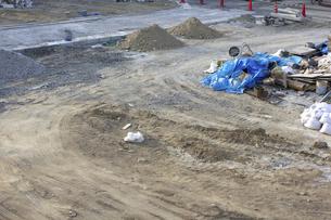 住宅地の基礎工事現場の写真素材 [FYI04207514]