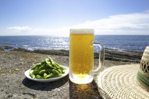 ビールと枝豆の写真素材 [FYI04207768]
