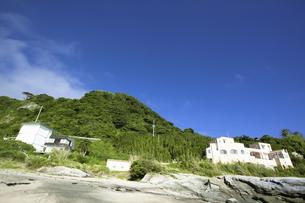 海岸から見た山の写真素材 [FYI04207820]