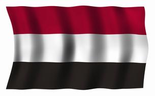 イエメンの国旗の写真素材 [FYI04211012]