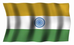 インドの国旗の写真素材 [FYI04211021]