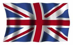 イギリスの国旗の写真素材 [FYI04211090]