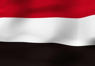 イエメンの国旗の写真素材 [FYI04211194]