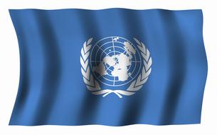 国際連合の旗の写真素材 [FYI04211195]