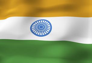 インドの国旗の写真素材 [FYI04211203]
