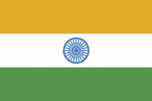 インドの国旗の写真素材 [FYI04211400]