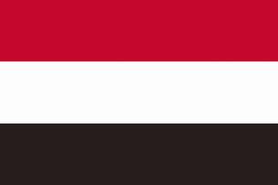 イエメンの国旗の写真素材 [FYI04211403]