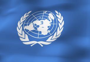 国際連合の旗の写真素材 [FYI04211405]