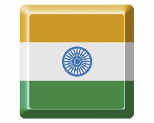 インドの国旗の写真素材 [FYI04211807]