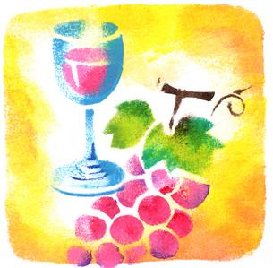 ブドウとワインのイラスト素材 [FYI04212888]