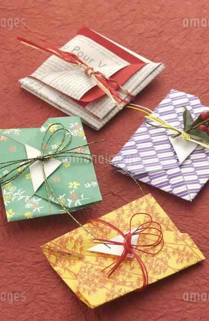 和風の封筒(ぽち袋)の写真素材 [FYI04214872]