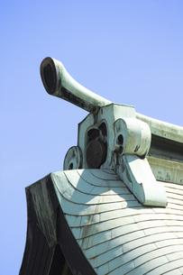 神社の屋根の写真素材 [FYI04218484]